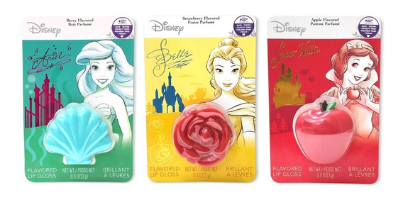 Batom Gloss / Lip Balm Disney Princesa Original Vegano Unid