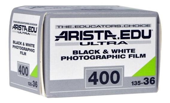 Filme 35mm Arista Edu Iso 400 Preto E Branco 36x Não Hp5
