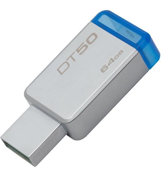 Pen Drive Kingston Datatraveler Usb 3.1 64gb Dt50/64gb Azul