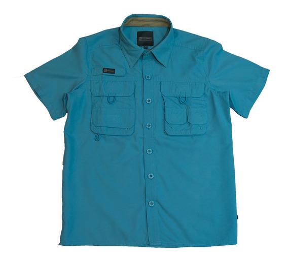 Camisas Ke Manga Corta Azul Claro Niños #jc01-2829