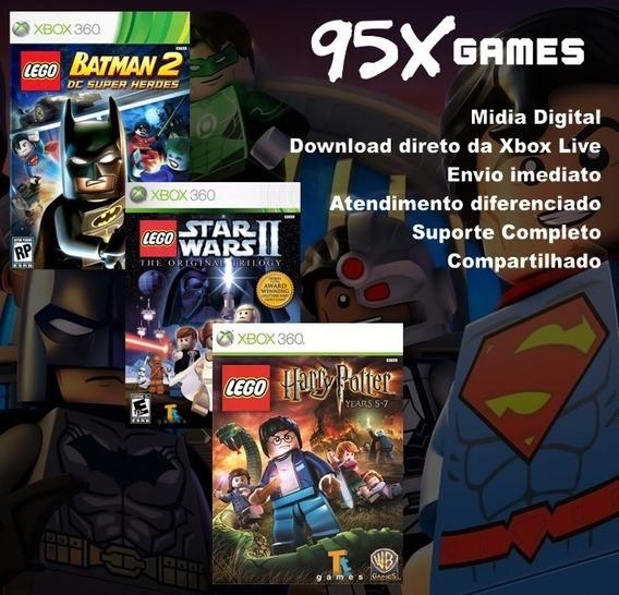 Combo 3 Jogos Lego - Midia Digital Xbox 360
