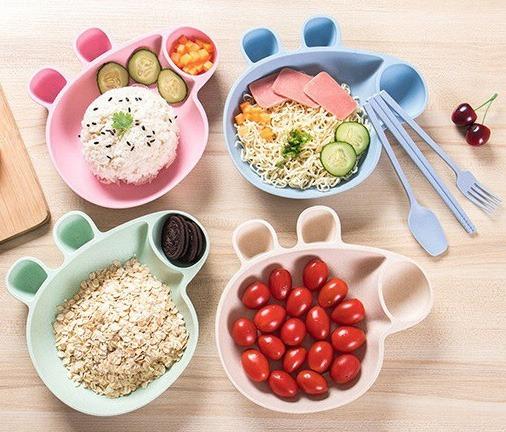 Kit De Trigo Prato Peppa Pig Infantil Garfo Colher Hashi