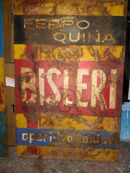 Antiguo Cartel Aperitivo Bisleri - Ferroquina