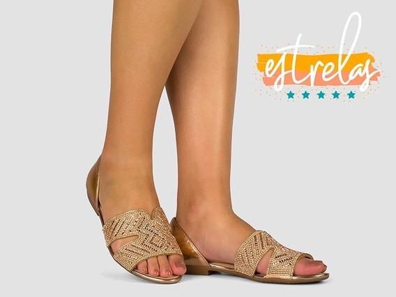 Sandália Rasteira Dakota Z5461 Preto Nude Luxo Verão 2020