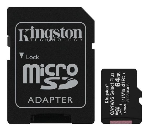 Cartão De Memória 4k 64 Gb 100 Mb/s + Adaptador