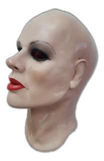Máscara Espuma Latex Super Realista Profissional Mulher Btom