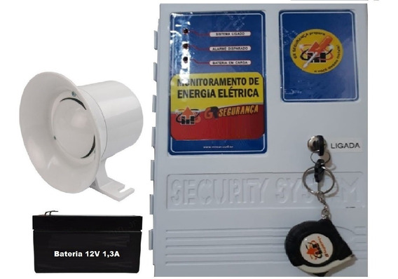 Alarme Sonoro Imediato Falta De Energia Elétrica Bateria