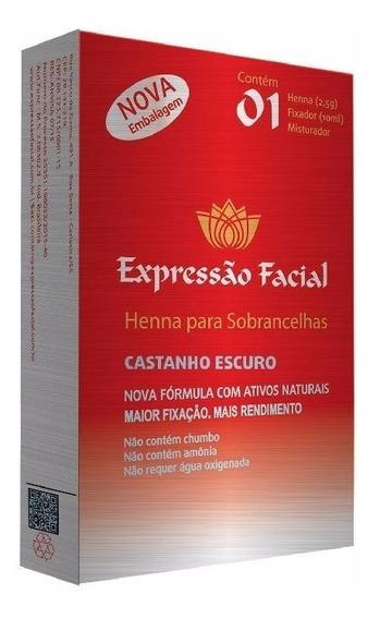 Henna Para Sobrancelha 7 Cores Disponíveis Expressão Facial