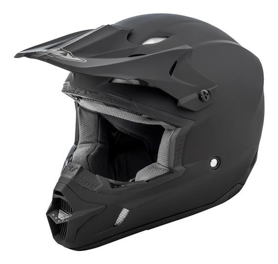 Casco Moto Cross Fly Kinetic Negro Mate Avant Motos