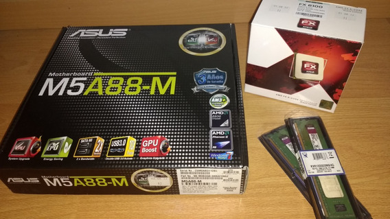 Combo Fx6100 + Mother Asus + 8gb Ddr3