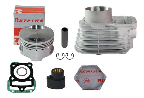 Imagem 1 de 2 de  Kit Competição Titan/fan125 2003 04 Pistão 4mm + Comando Wg