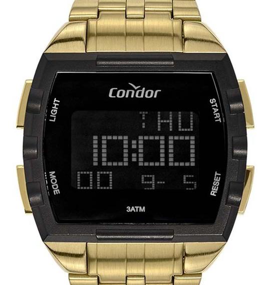 Relógio Condor Digital Masculino Cobj2649ab/4d Dourado + Nf
