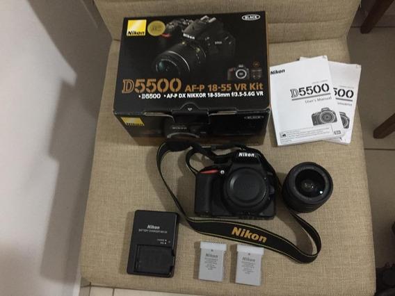 Nikon D5500 + Lente Nikkor Afpdx Vr 18-55mm + Bolsa + Bateri