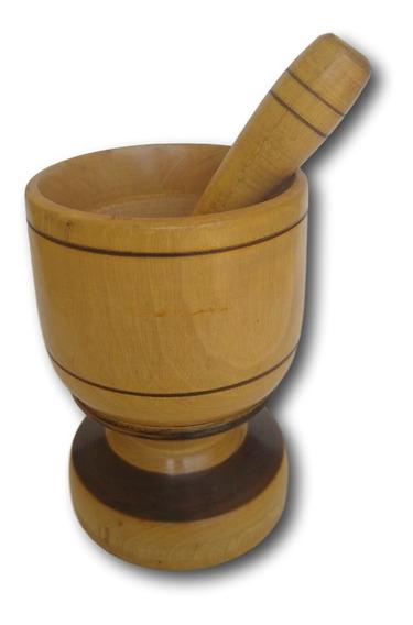 Pilão De Madeira Amassador De Temperos Ref: 9338