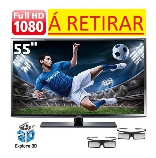 Tv 55 Led 3d Samsung Série 6 Eh6030 Com Display Trincado