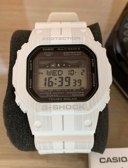 Relogio Casio Gwx5600wa-7 - Branco 48.9mm G-shock - Surf
