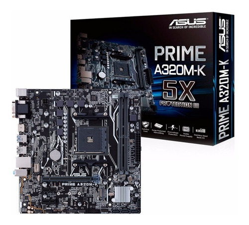 Motherboard Asus Prime A320m-k Am4 Ddr4 Amd A320 Hdmi !!!