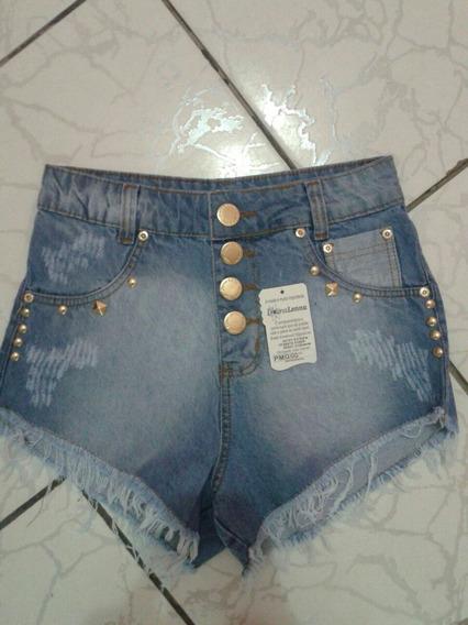 Kit C/5 Bermudas Jeans Feminina Original