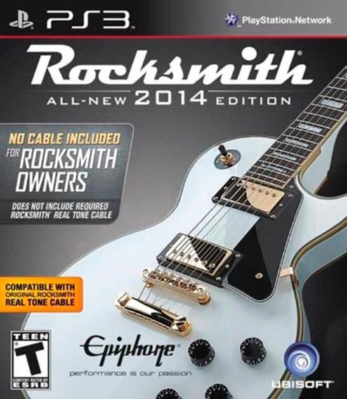 Rocksmith 2014 Não Inclui Cabo Para Guitarra Ps3 Lacrado
