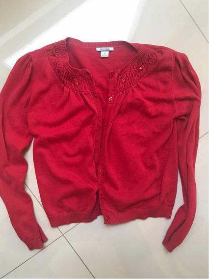 Sweter Vestir Niña Rojo Talla 10