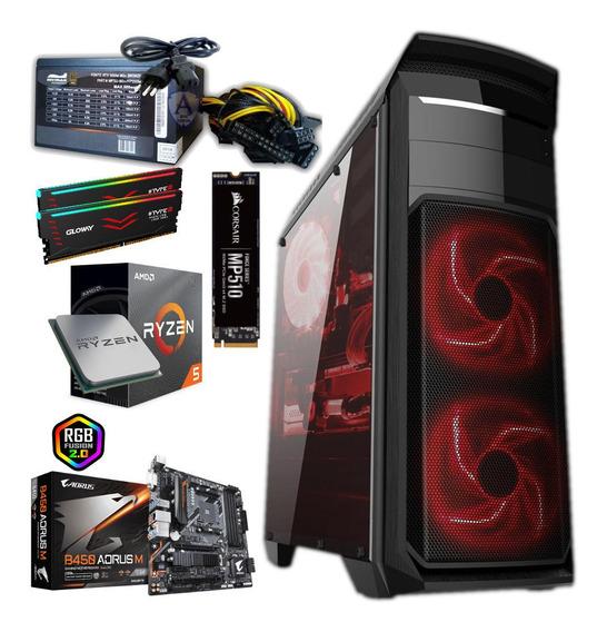 Pc Gamer Ryzen 5 3600- 16gb Ddr 4 3000 Mhz - Nvme 480 Gb