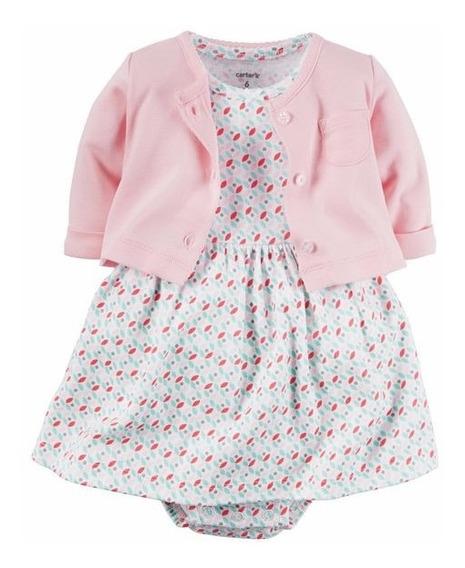 Vestido Com Casaco Carters Bebe Menina