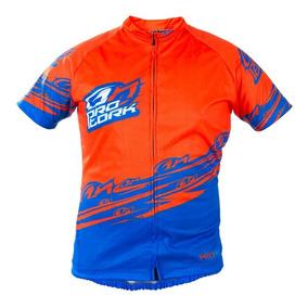 Camisa Ciclismo Bike Bicicleta Pro Tork Line 1 Laranja/azul