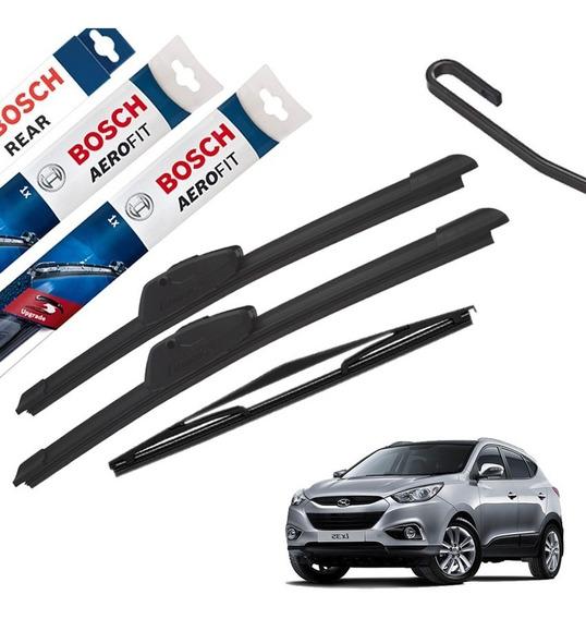 Palheta Limpador Parabrisa Hyundai Ix35 2011 A 2018 Dianteira E Traseira Original Bosch