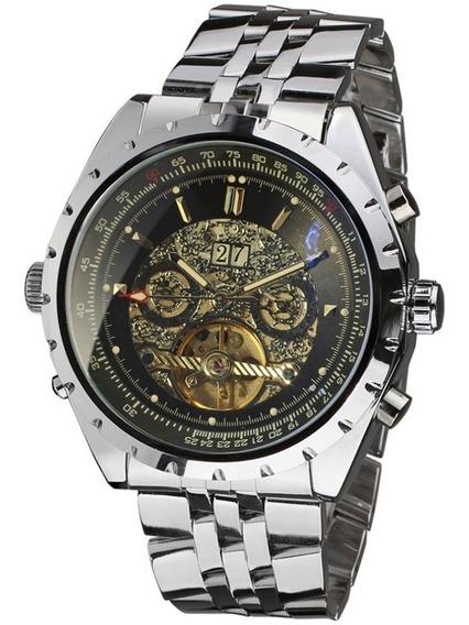 Relógio Masculino Mecânico Automático Luxo Original Jaragar