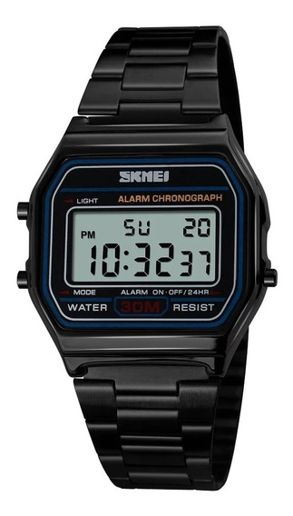Relógio Unissex Skmei Digital 1123 Preto Original Com Caixa