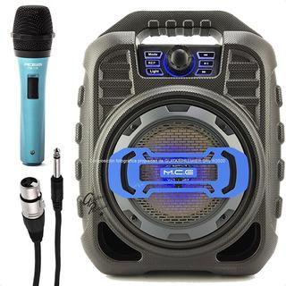 Combo Karaoke Microfono + Cable + Parlante Bluetooth Luces