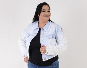 Jaquetinha Jeans Claro Plus