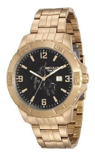 Relógio Seculus Masculino 20443gpsvda1 Country