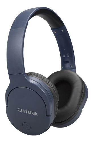 Audífono Aiwa Awk11u Bluetooth Diadema Azul Hasta 18 Horas