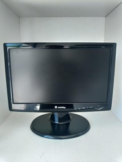 Monitor Itautec 1641sx Lcd 16 Tela Amarelada, Marcas De Uso
