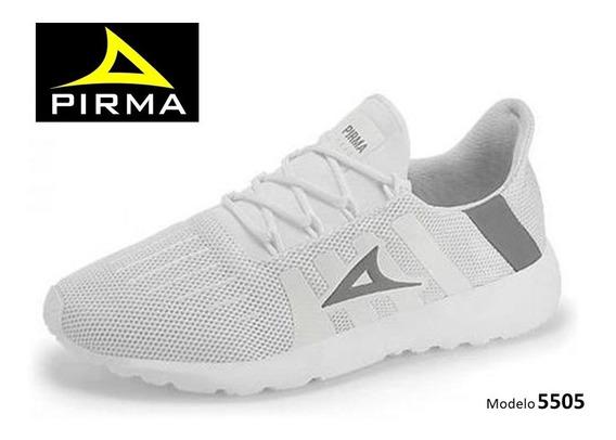 Pirma Running Dama Colores Blanco Y Gris Mod. 5505