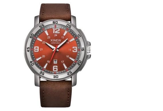 Relógios Pulseira De Couro Moda Relógio Homens De Negócios