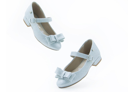 Chabelo Niña Zapatos Escolar 88501 5- B Plata 100% Original