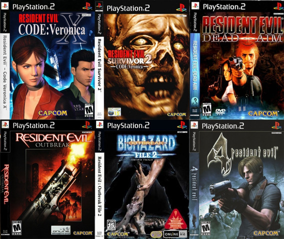 Resident Evil Ps2 Português Coleçâo (6 Dvds) Patch