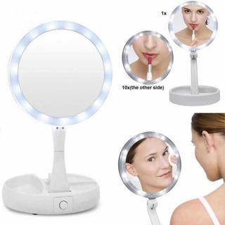 Espejo Doble Con Luz Led - Extensible Maquillaje