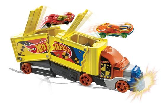 Hot Wheels City, Camión De Choques Y Acrobacias