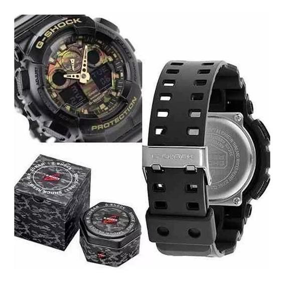 Relógio Casio G-shock Ga-100cf-1a9dr *camuflado