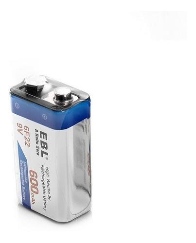 Bateria Recargable Ebl 9v 600 Mah Ph Ventas
