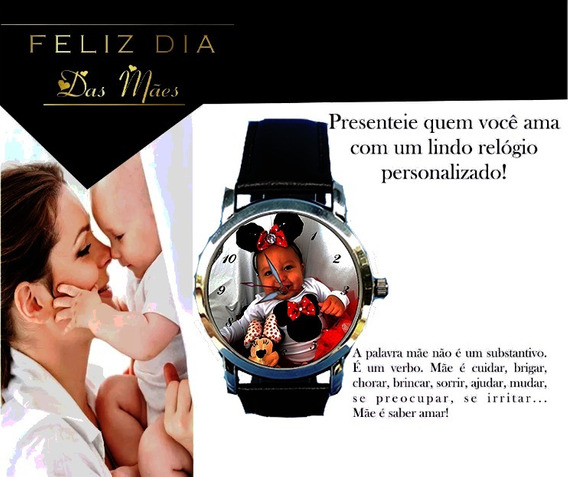Relógio De Pulso Personalizado Feminino Dia Das Mães