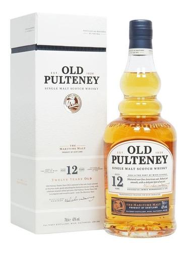 Imagen 1 de 9 de Whisky Old Pulteney 12 Años Single Malt 750ml En Estuche
