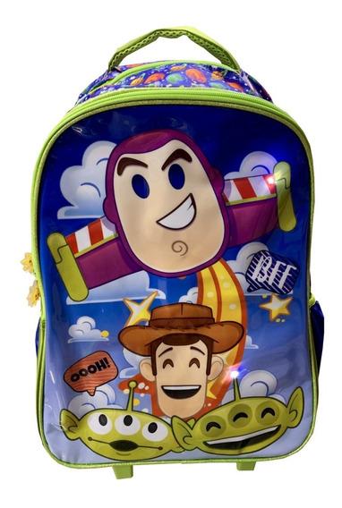 Mochila Toy Story Con Ruedas Y Luz Led. Gran Calidad, Vende Omnichess. Envío Gratis
