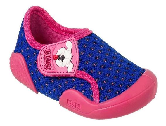 Tênis Infantil Klin New Confort Feminino - Marinho E Pink