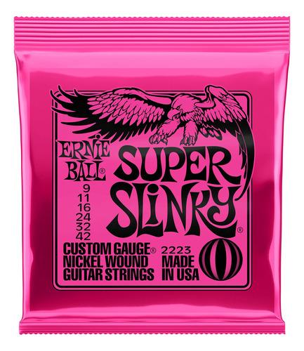 Imagen 1 de 1 de Encordado Guitarra Eléctrica Super Slinky Ernie Ball 2223