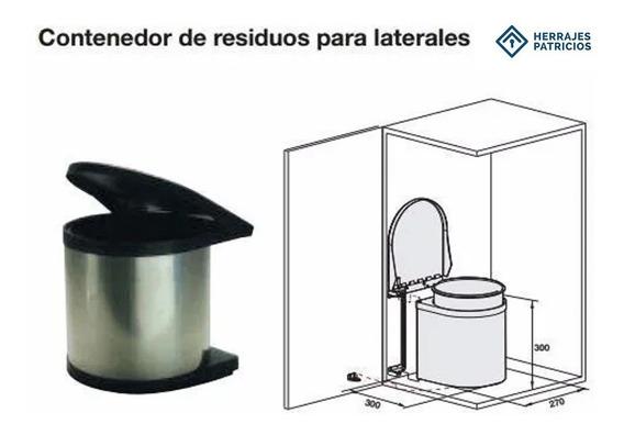 Cubo Cesto Residuos Acero Inox. 10lts Cod. Hafele 502.01.923