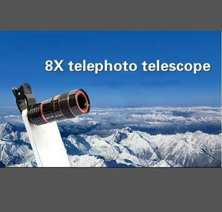 Telescópio Lentes Zoom 8x Para Celular
